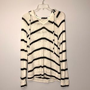 Whetherly Striped Sweater Black and White Size S